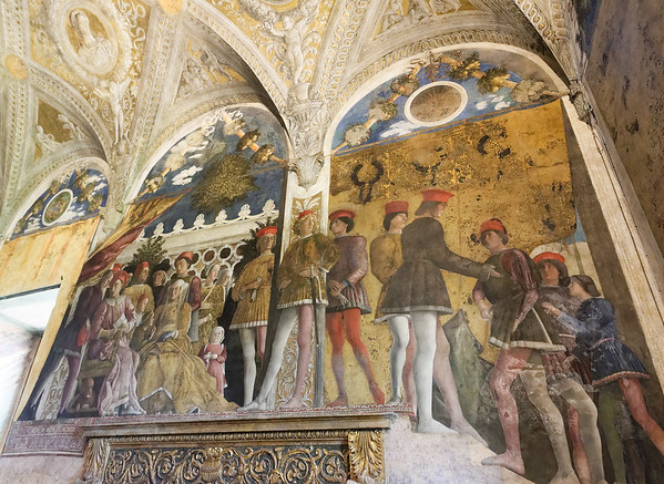 Mantua, Castle of St. George; the Painted Room, the Gonzaga family