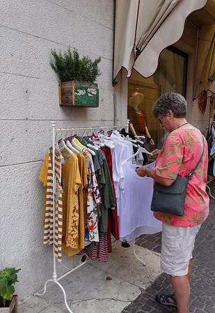 Malcesine, Lake Garda; lots of shopping