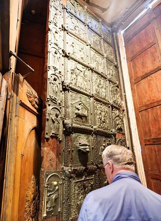 Verona St. Zeno;  Metal door with parts dating from 900 AD
