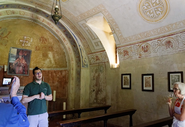 Borgo San Doninio; Fabio had a farewell surprise for us, a visit to the chapel that started San Donino