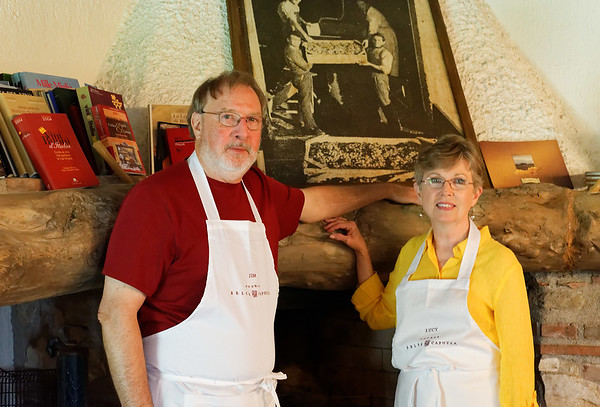 Borgo San Donino; Jim and Lucy prepare for cooking class