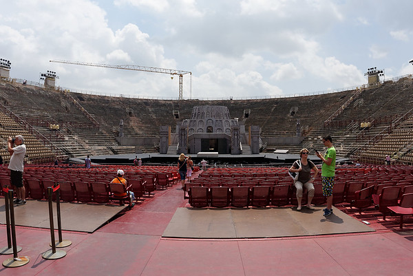 Verona: Arena with seats covering the floor