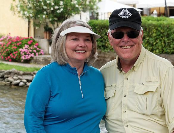 Valeggio and the Mincio river; Barbara and Roy