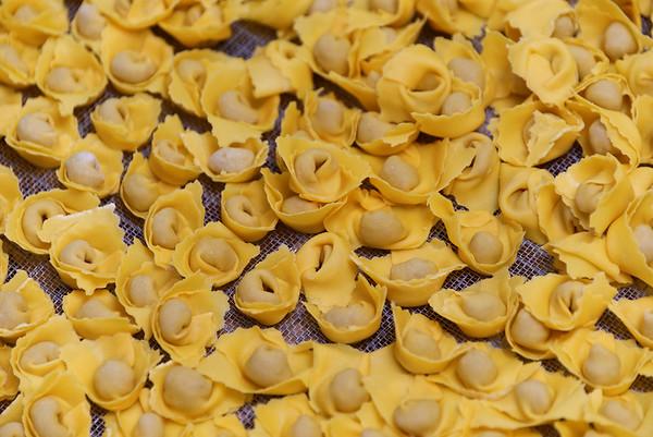 Valeggio; Tortillini on the drying rack