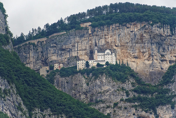 Lake Garda area; religious structures built into the pre-Alps