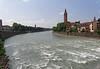 Verona: fast-flowing Adige River