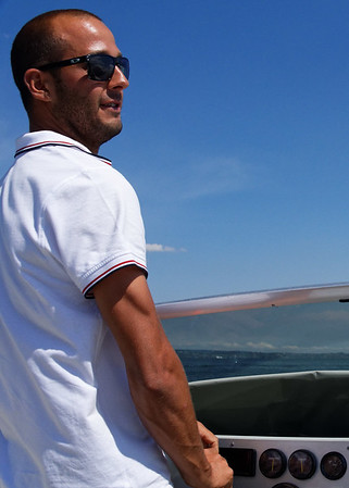 Sirmione; our skipper