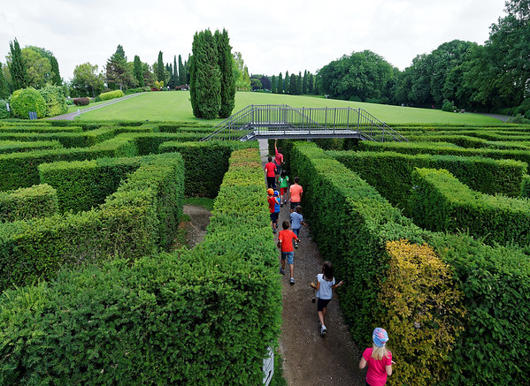 Valeggio, Parco Sigurta Giardino; exiting the maze composed of 1,500 yew trees