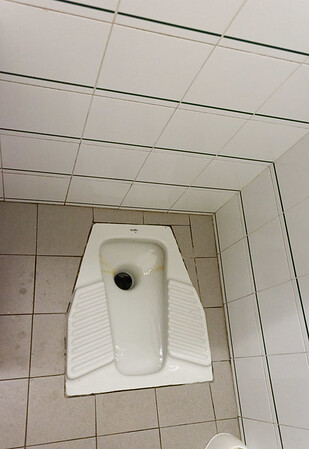 Marano, Azienda Agricola de Tarczal; typical Italina men's toilet