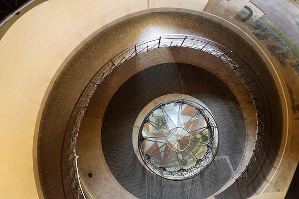 Tower of San Martino della Battaglia; looking down to the entry
