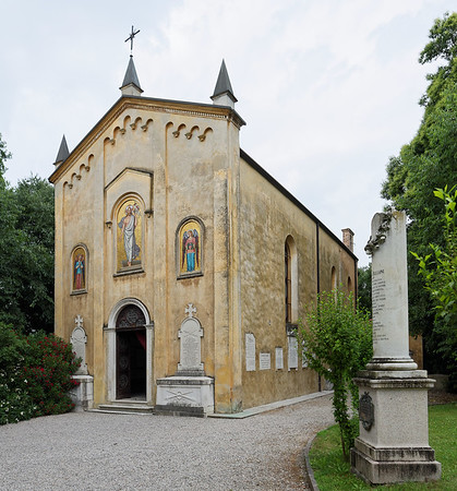 Tower of San Martino della Battaglia; the ossuary nearby where skulls and bones from the battles are dislplayed