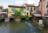 Valeggio and the Mincio river; small restaurant
