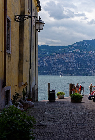 Malcesine, Lake Garda; popular sailing spot