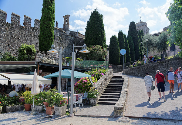 Sirmione; walkway back from the beach