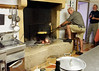 Marano di Valpolicella; Richard gives the polenta a stir