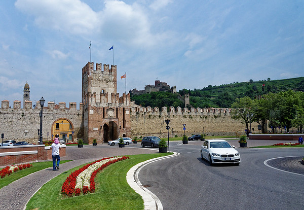 Soave; the Castle above the city walls