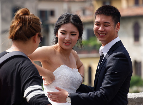 Verona: We always see a wedding on our trips