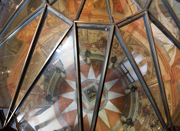 Tower of San Martino della Battaglia; looking down on the entry area