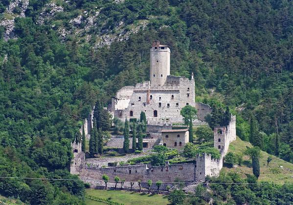 Lake Garda area; castle guarding the valley approach