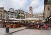 Verona: dining areas around the plaza