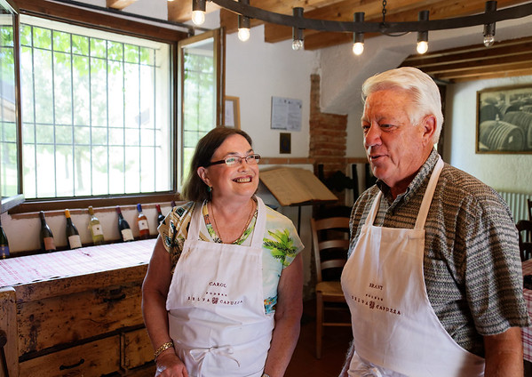 Borgo San Doninio; Brant and Carol get ready to cook