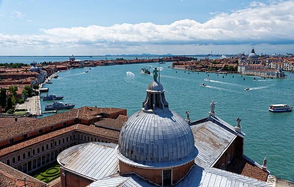 Venice; San Giorgio Maggiore, view from the tower