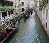 Venice; gondola procession