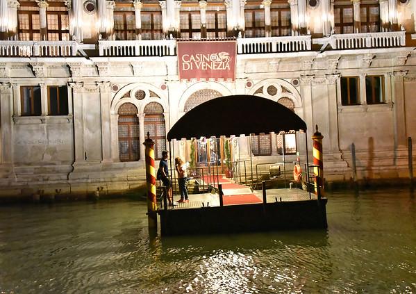 Venice; night cruise by water bus, casino