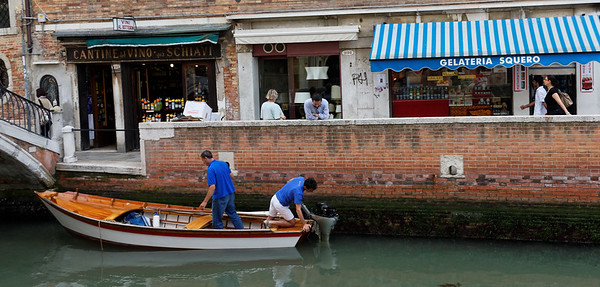 Venice; problems with his engine