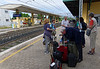 Desenzano; waiting for the fast train to Venice