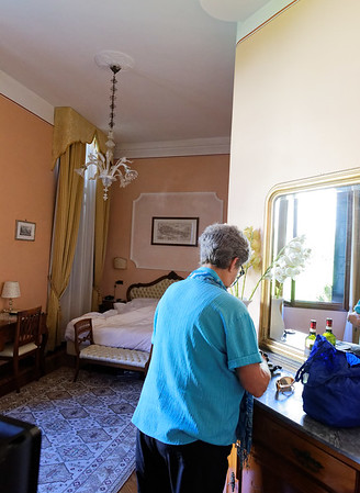 Venice; our room at the Pensione Accademia