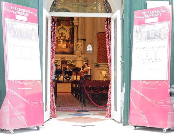 Venice; church quartet practicing