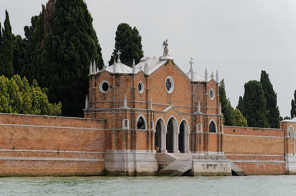 Venice; cemetary island on the way to Murano Island