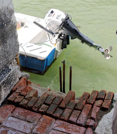 Venice; damaged bricks