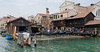 Venice; gondola boat yard