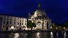 Venice; night cruise by water bus, Santa Maria della Salute