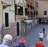 Venice; walking into the Jewish ghetto plaza