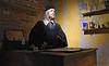 Venice; Banco Rosso, organic and kosher proseco, and likeness of shiopkeeper