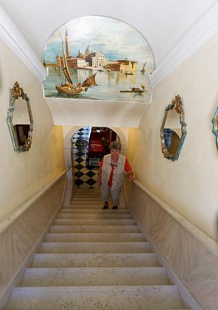 Venice; Hotel's steep steps