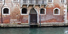 Venice; white stones are not to be in the water, bricks showing salt water damage