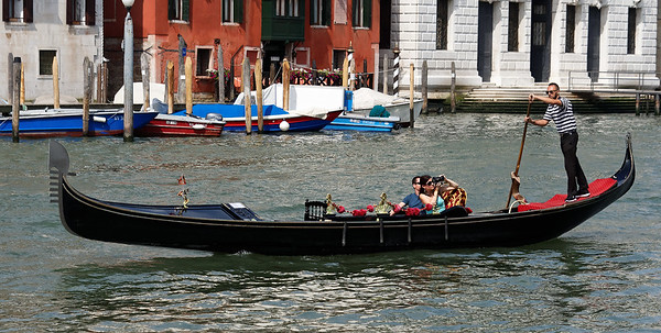 Venice; sightseeing in a gondola on the Grand Canal