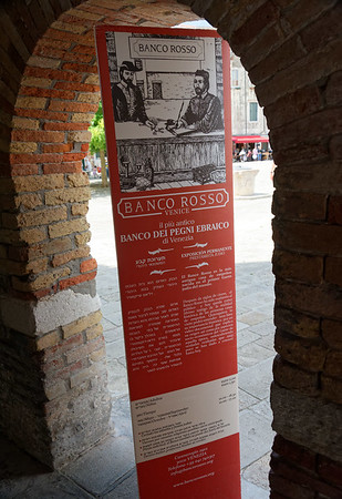 Venice; Banco Rosso - there were red (Spanish), green and black jewish pawn shops