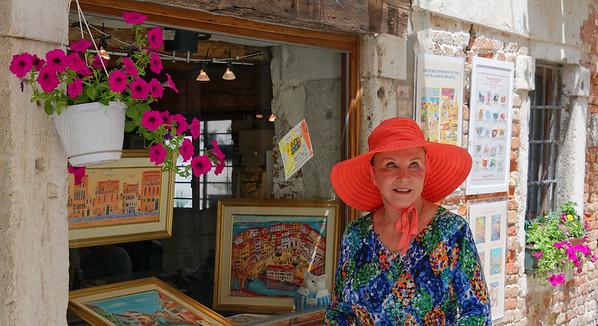 Venice; Sue in the Jewish ghetto