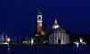 Venice; night cruise by water bus, San Giorgio Maggiore