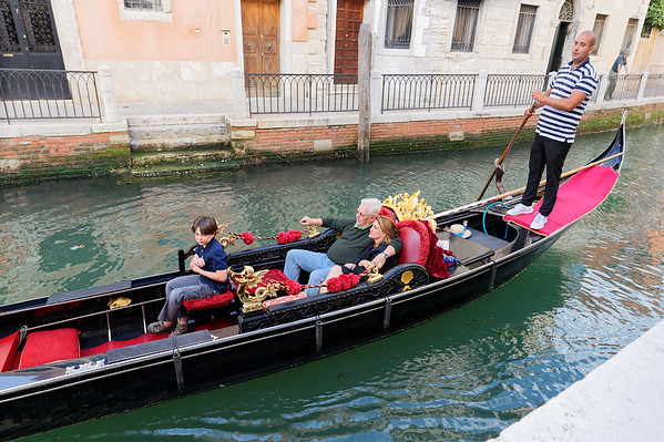 Venice; gondola ride for lovers