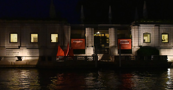 Venice; night cruise by water bus, Peggy Guggenheim Collection