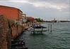 Venice; Murano Island rain starting