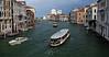 Venice; canal scene with the Basilica of Santa Maria della Salute in the background