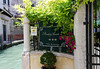 "Venice; water taxi entrance, Pensione Accademia, ""Villa Maravege"" a converted private residence"