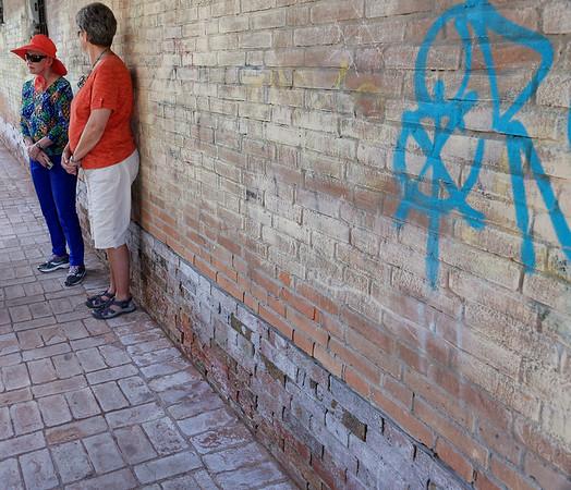 Venice; water barrier prevents salt water wicking by bricks